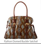 Python Domed Buckle Satchel