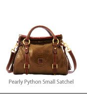 Pearly Python Small Satchel