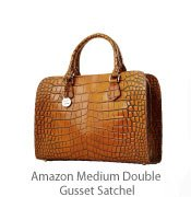 Amazon Medium Double Gusset Satchel