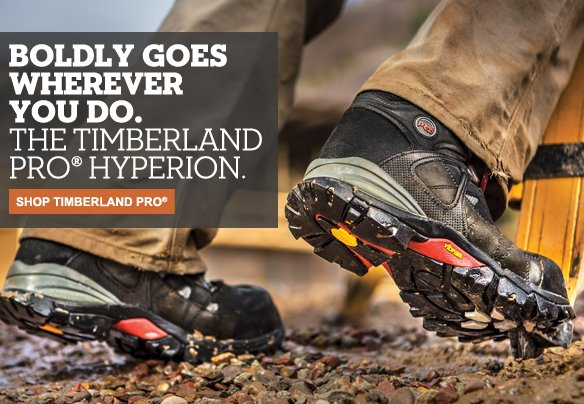 Boldly goes wherever you do. The Timberland PRO® Hyperion. Shop Timberland PRO®