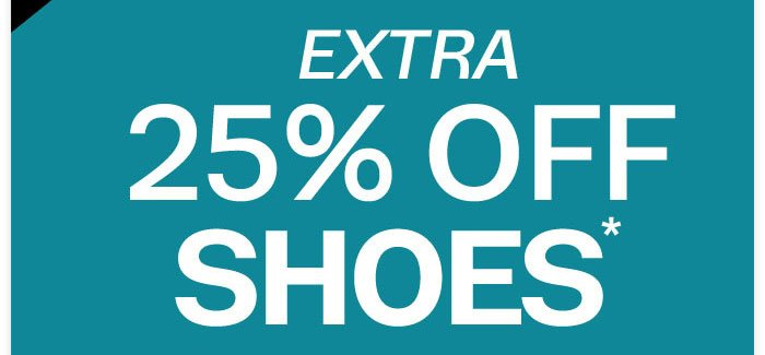 25% off shoes