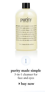 purity made simple 3-in-1 cleanser for face and eyes - buy now