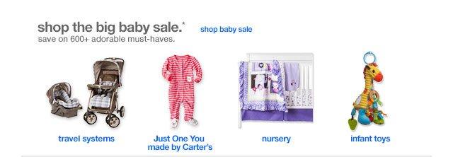 Shop the big baby sale.