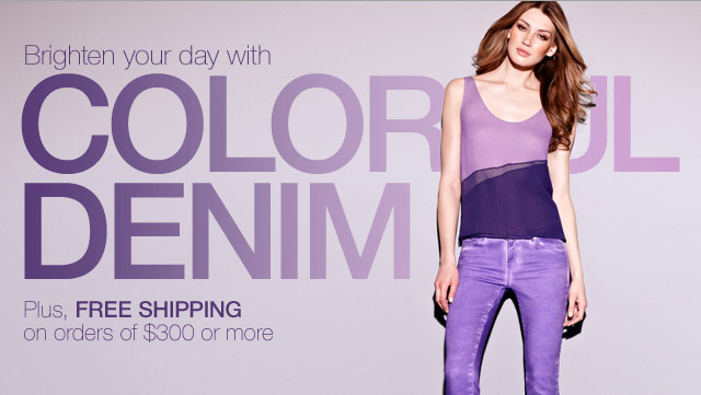 Brighten your day with Coloful Denim - Plus, Free Shipping on orders of $300 or more