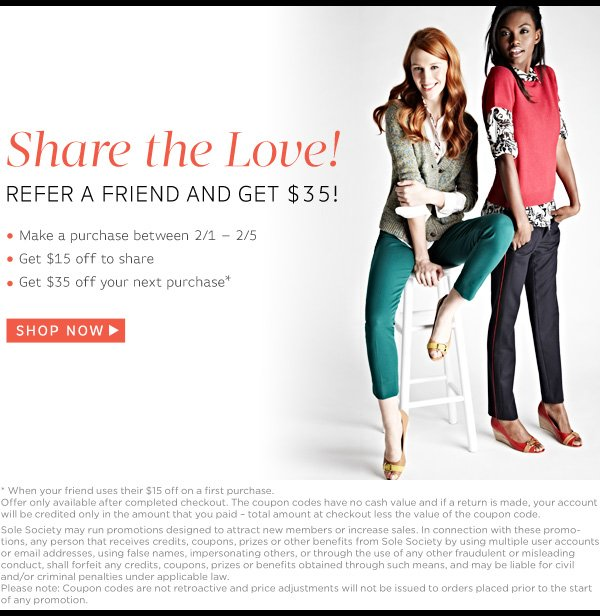 Refer a friend and get $35!