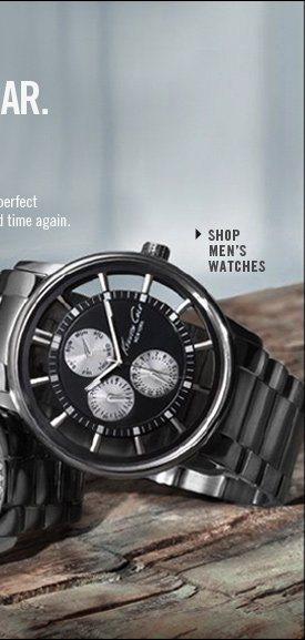 Shop Men's Watches // Valentine's Day gift for the one you think about, time and time again.