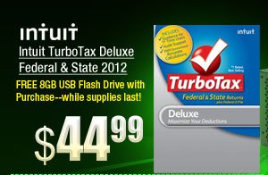 Intuit TurboTax Deluxe Federal & State 2012