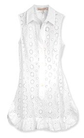 White Eyelet Cover Up Capri Paisley