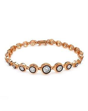 Made In Turkey Bracelet Designed In 925 Two Tone Sterling Silver $119