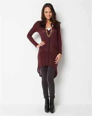 Jella Couture Striped Button Cardigan $29