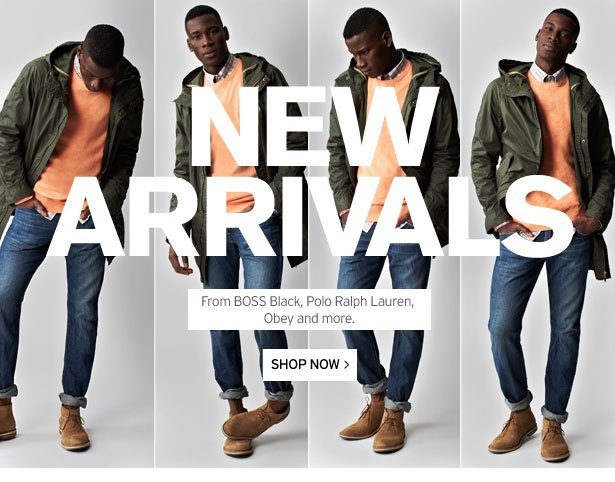 NEW ARRIVALS - From BOSS Black, Polo Ralph Lauren, Obey and more.