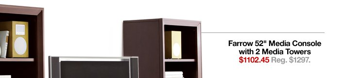 Farrow 52in Media Console with 2 Media  Towers $1102.45 Reg. $1297.
