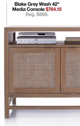Blake Grey Wash 42in Media Console $764.15  Reg. $899.
