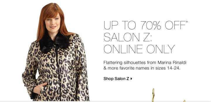 Up To 70% Off* Salon Z: Online Only