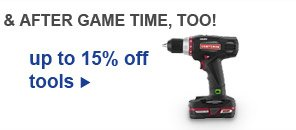 up to 15% off tools