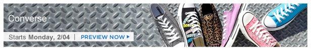 Converse is on HauteLook Monday 2/4