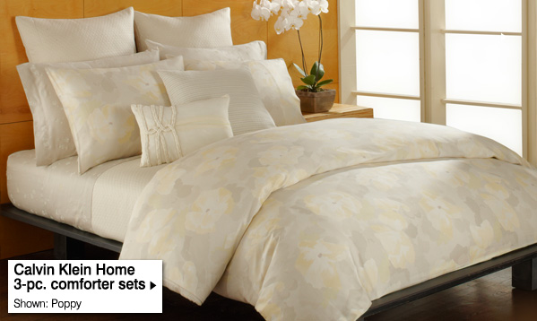 Calvin Klein Home 3-pc.  comforter sets. Shown: Poppy