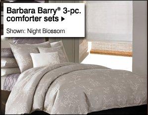 Barbara Barry®  3-pc. comforter sets. Shown: Night Blossom
