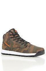 The Backwood Sneaker in Camo Canvas, Black Mesh, & Orange Accents
