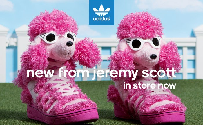 new from jeremy scott, in store now
