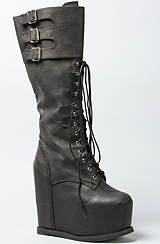 The Lautrec Hi Boot in Black Distressed