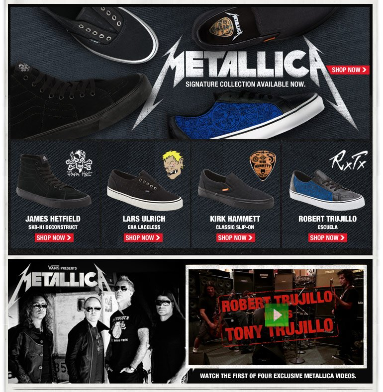 Vans: VANS X METALLICA Signature Collection Available Now