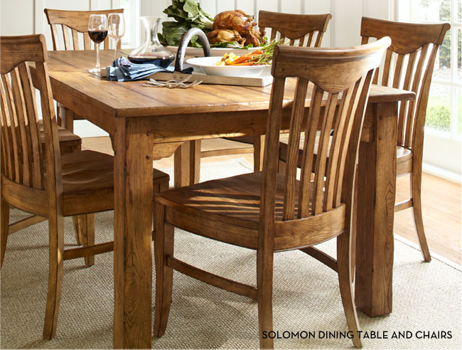 SOLOMON DINING TABLE AND CHAIRS