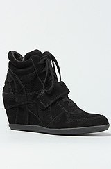 The Bowie Bis Sneaker in Black Suede