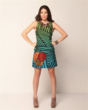 Desigual Sleeveless Striped Dress