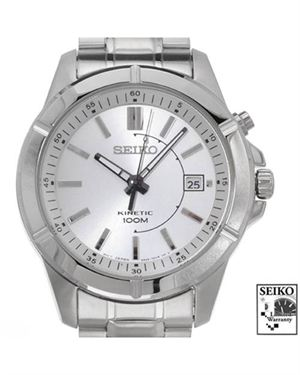 Brand New SEIKO SKA535 Kinetic Stainless Steel Men's Date Watch