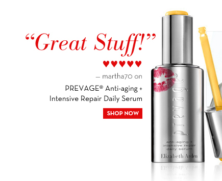"""Great Stuff!"" ♥♥♥♥♥ - martha70 on PREVAGE® Anti-aging + Intensive Repair Daily Serum. SHOP NOW."