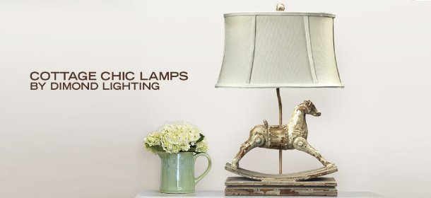 COTTAGE CHIC LAMPS BY DIMOND LIGHTING, Event Ends February 5, 9:00 AM PT >