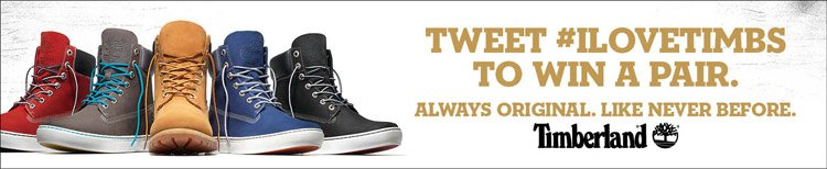 Tweet #ILOVETIMBS to win a pair.