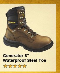 "Generator 8"" Waterproof Steel Toe"