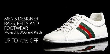 Men's Designer Bags, Belts & Footwear