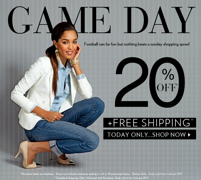 Shop 20% OFF + Free Shipping Today Only!
