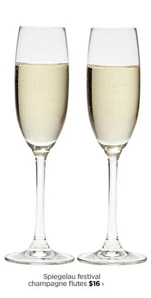 Spiegelau festival champagne flutes $16›