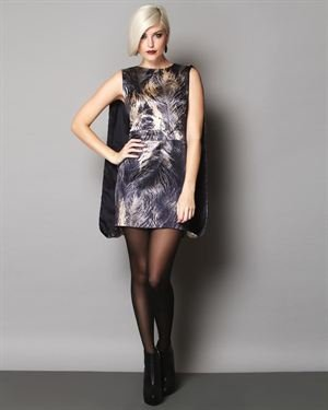 Alexander McQueen Draped Print Silk Dress $269