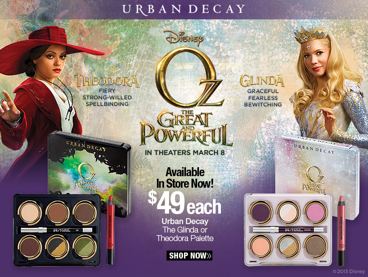 Urban Decay, Limited Edition, The Theodora Palette and The Glinda Palette - $49 each. Shop Now.