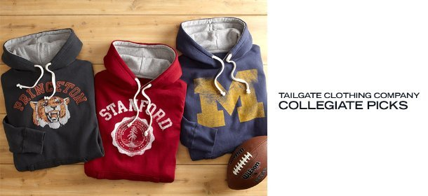 TAILGATE CLOTHING COMPANY: COLLEGIATE PICKS, Event Ends February 6, 9:00 AM PT >