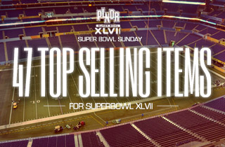 47 Top Selling Items for Superbowl XLVII