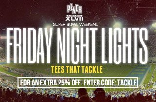 Friday Night Lights: Tees That Tackle