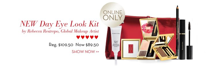 NEW Day Eye Look Kit by Rebecca Restrepo, Global Makeup Artist ♥♥♥♥♥ Reg. $109.50 Now $89.50. ONLINE ONLY. SHOW NOW.