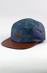Entree LS 'PURPLE HAZE' 5 Panel Hat w Brown Leather Brim
