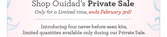 Shop Ouidad's Private Sale. Only for a Limited time, ends February 3rd!