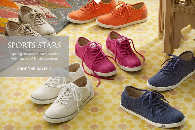 Sports Stars - Spring sneakers turn heads with pops of bright canvas. Shop the Hally