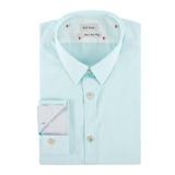 Paul Smith Shirts - Turquoise Cotton Shirt