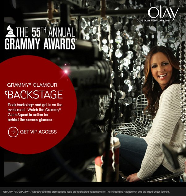 Grammy Glamour Backstage. Peek backstage and get in on the excitement. Watch the Grammy Glam Squad in action for behind-the-scenes glamour.