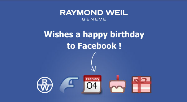 RAYMOND WEIL wishes a happy birthday to Facebook!