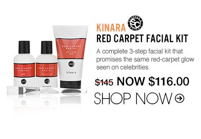 "Shopper's Choice Kinara Red Carpet Facial Kit A complete 3-step facial kit that promises the same red-carpet glow seen on celebrities. ""This is a great at-home facial kit as it includes top-of-the-line products. My skin always appears brighter and fresher after using this product."" –From Jersey City, NJ $145 Shop Now>>"
